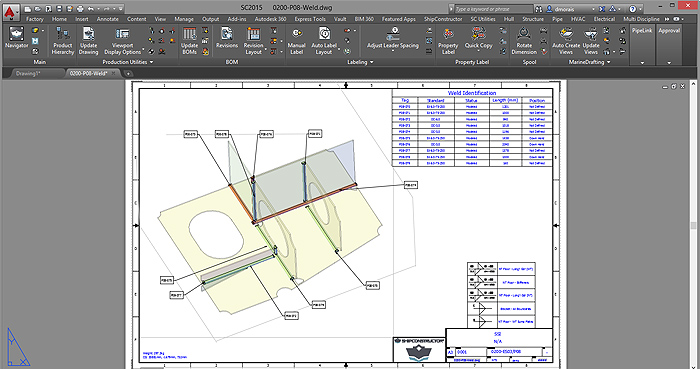 ShipConstructor-Weld-Process-Layout-View1