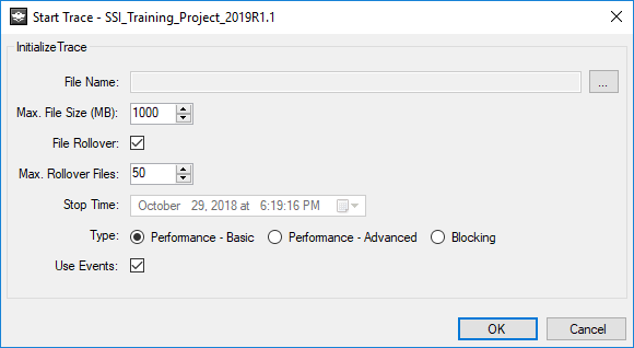 Performance Improvements - Start Trace