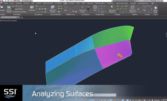Analyzing Surfaces in ShipConstructor