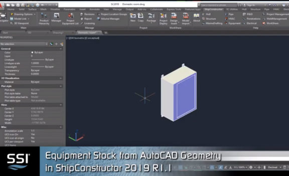 Equipment Stock from AutoCAD Geometry