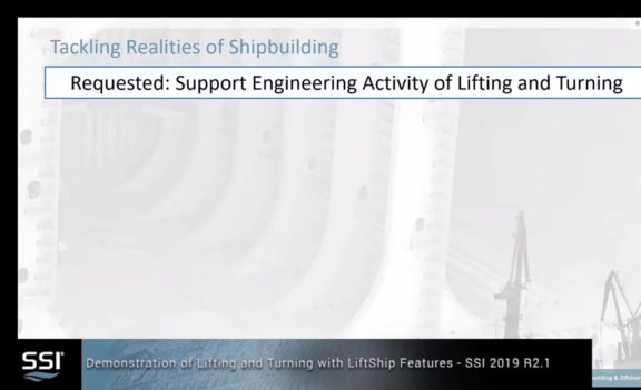 SSI 2019 R2.1 Model Lifting and Turning Equipment and Vectors Walk-through Demonstration
