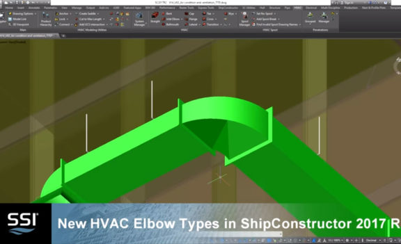 New HVAC Elbow Types in Shipconstructor 2017 R2