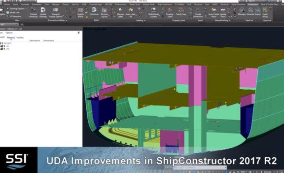 UDA Improvements in Shipconstructor 2017 R2