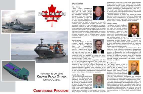 Canadian Conference on Modern Shipbuilding